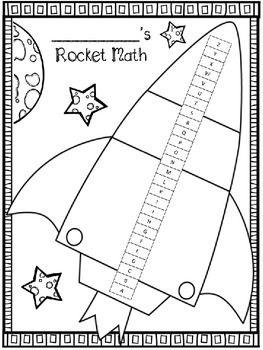 Rocket Math Score Tracking Sheets Rocket Math Teaching Math Math Charts