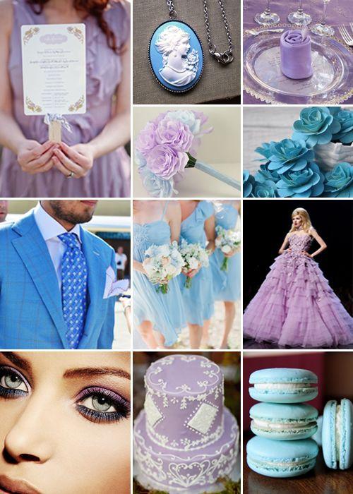 Lilac And Sky Blue Weddings