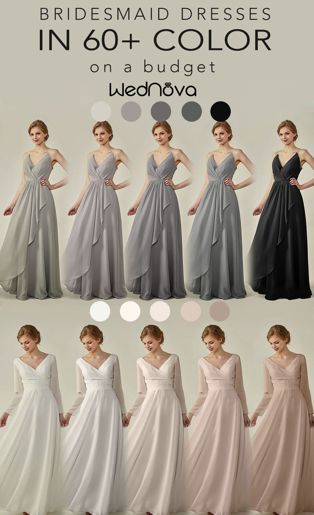 White Bridesmaid Dresses With Long Sleeves Gray Ruffle Bridesmaid Dresses Brides Wedding Dresses 2017 Trend White Bridesmaid Dresses Ruffles Bridesmaid Dresses