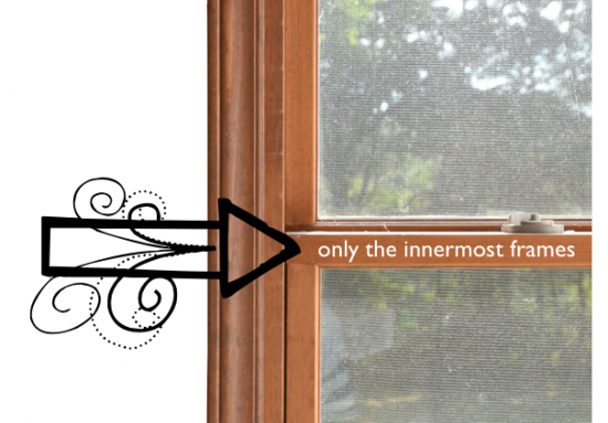 Diy Black Window Frames Painted Wood Frame