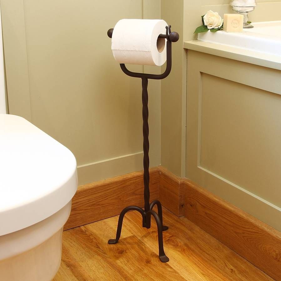 Vintage Freestanding Twisted Toilet Roll Holder In 2021 Toilet Roll Holder Pedestal Toilet Paper Holder Free Standing Toilet Paper Holder