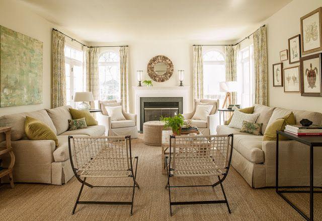 Lauren Liess Go To Ivory Paint Bm S Seashell Living Room Makeover Home Living Room Family Living Rooms