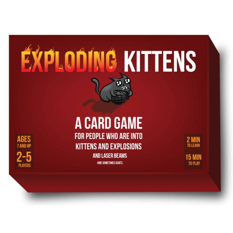 Exploding Kittens Meow Box Edition Exploding Kittens Card