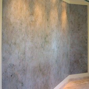 Lovely Faux Concrete Wall Finish