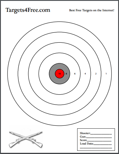 Simple Circle Target Template Bullseye Symbol Stock Vector Symbols Stock Vector Bullseye