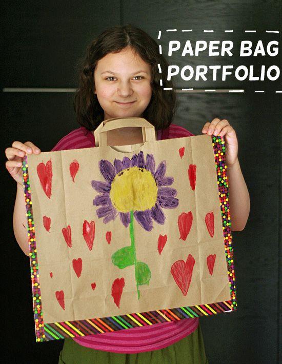 Storing art in a paper bag portfolio
