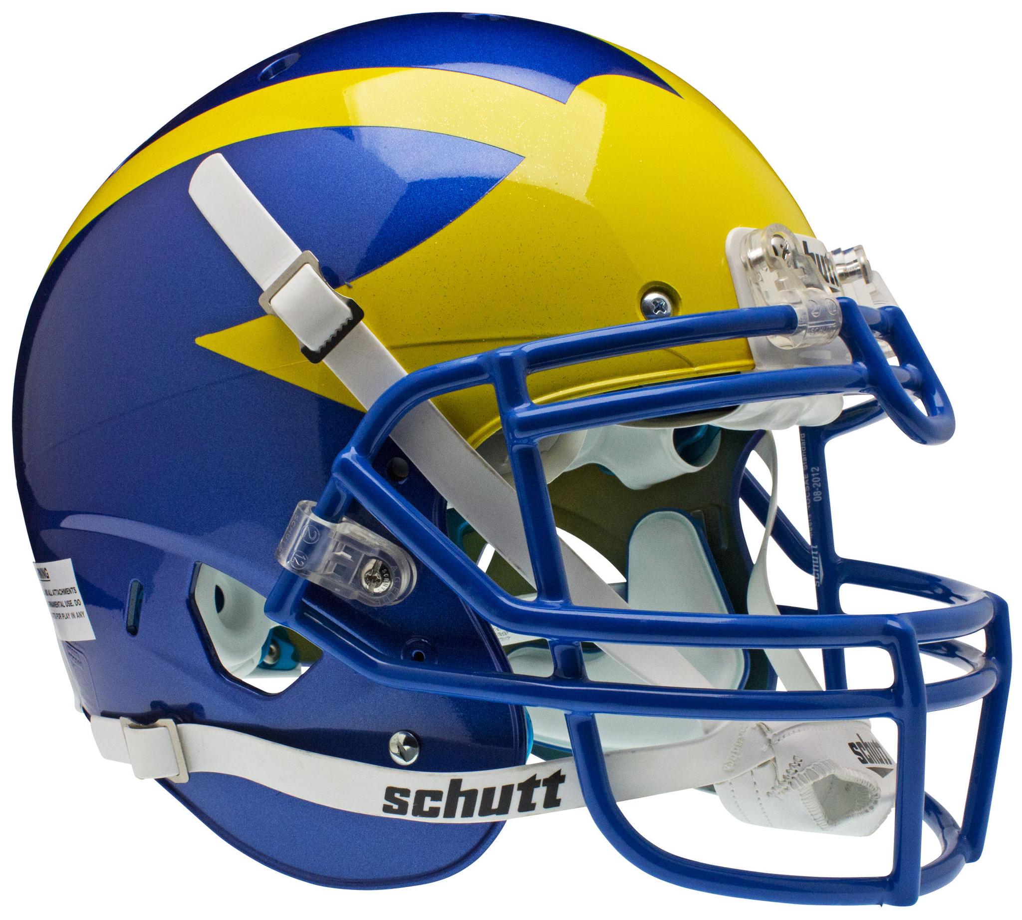 Delaware Blue Hens Authentic College Xp Football Helmet Schutt Football Helmets Delaware Blue Hens College Football Helmets