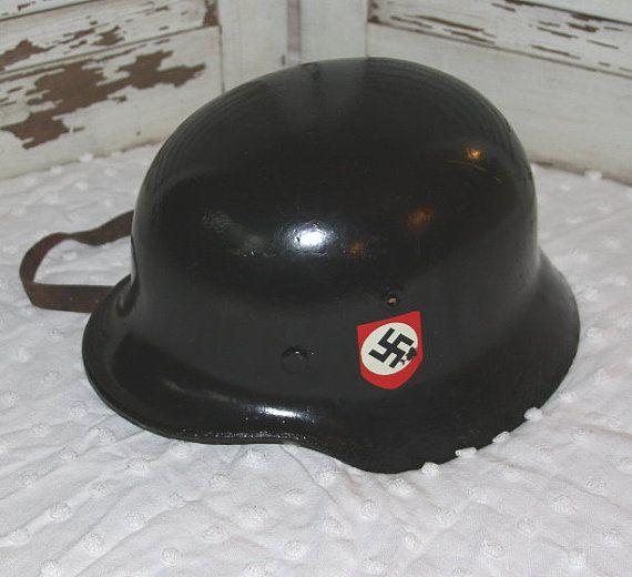 Vintage World War 2 German Helmet By Stitchintimepatterns On Etsy 35000