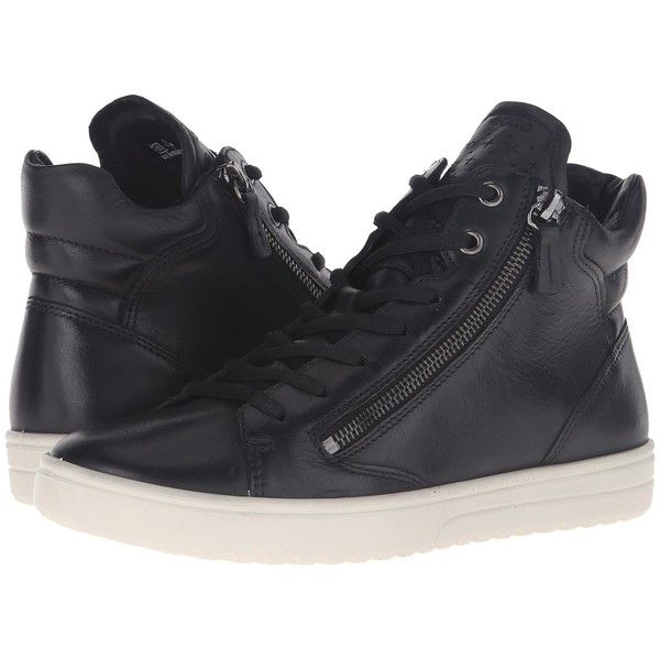 2c3e64acf34 ECCO Fara Sneaker (Black) Women's Lace up casual Shoes ($160) ❤ liked on  Polyvore featuring shoes, sneakers, black lace up shoes, kohl shoes, lace  up shoes ...