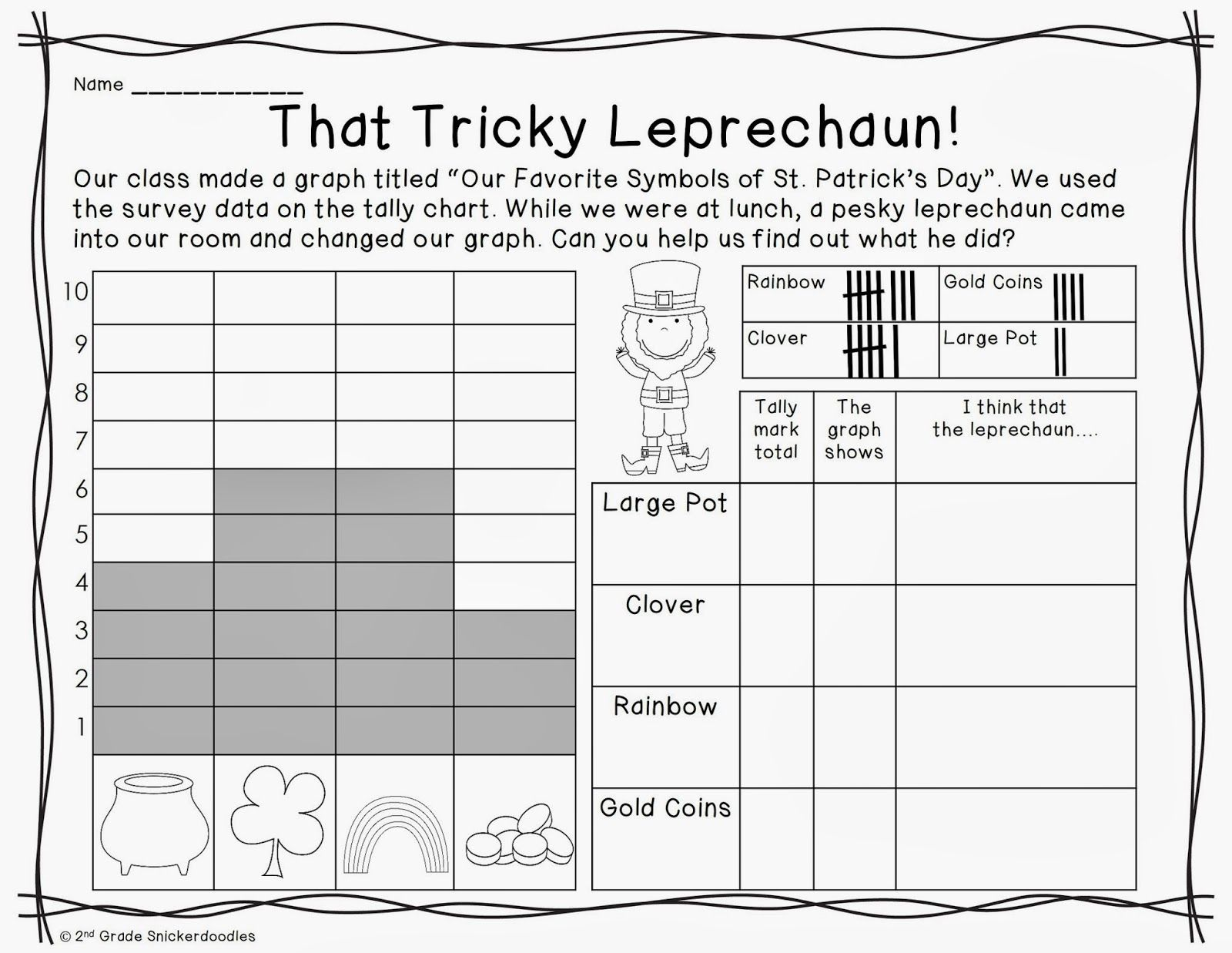 Free Graphing Activities By 2nd Grade Snickerdoodles