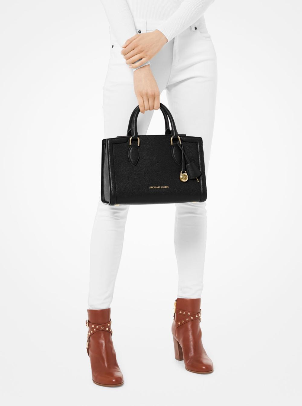 Zoe Medium Pebbled Leather Satchel | Michael Kors | Sacs à main ...