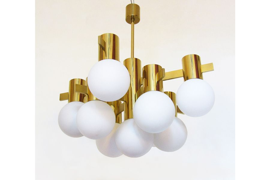 1970s Chandelier In Brass By Hans Agne Jakobsson Photo 1 Chandelier Disaster Designs Warm Light