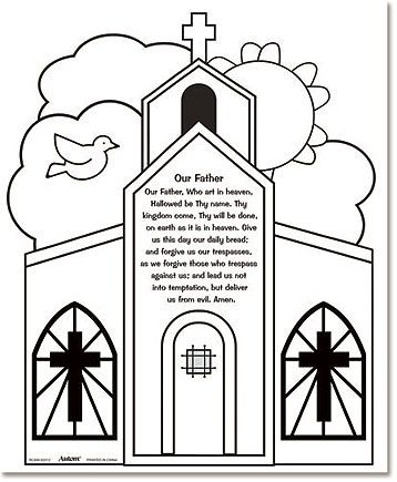 buy youth kids color your own our father prayer home classroom sunday school religious arts crafts activity by b toygame - Father Coloring Page Catholic