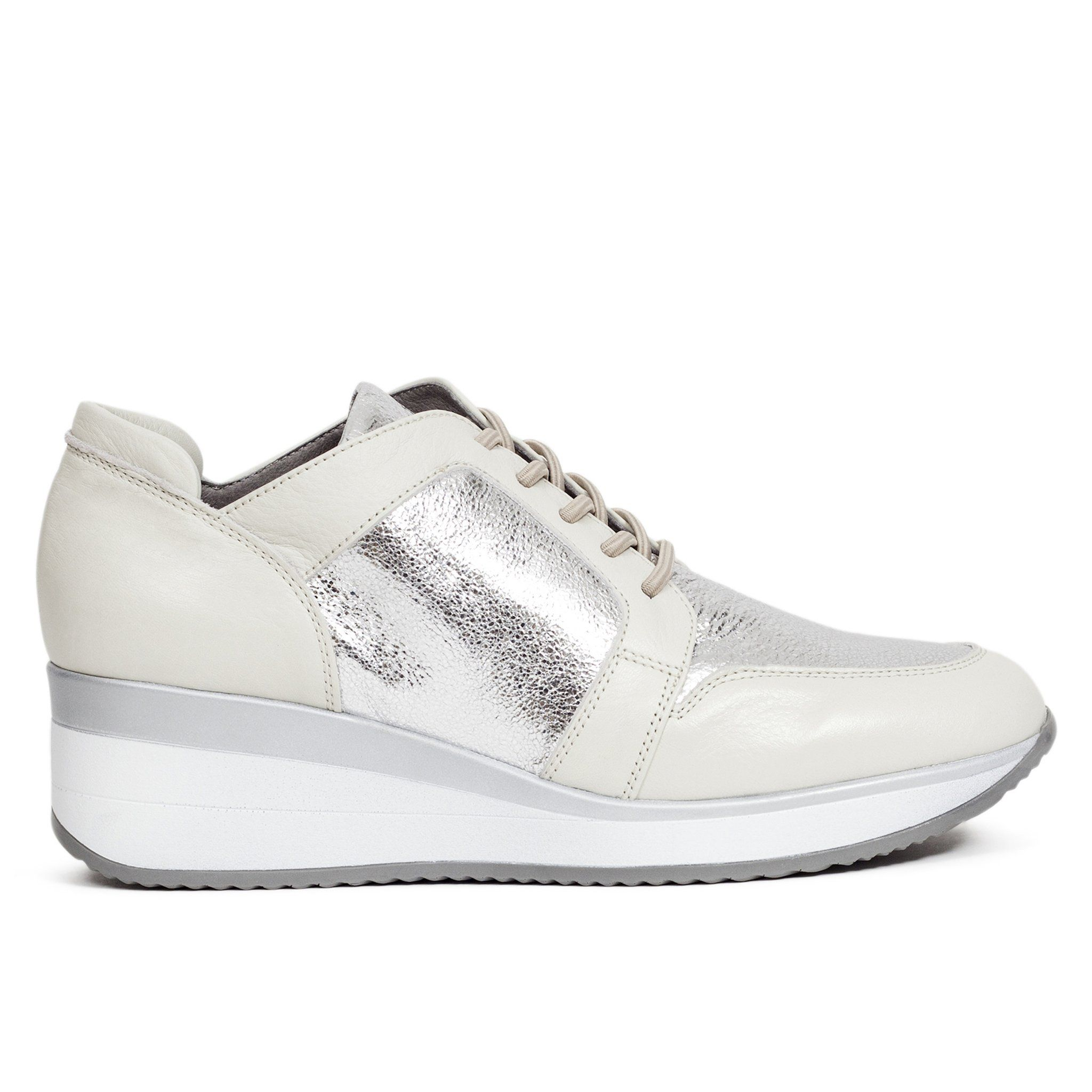 2a09130f Zapato Deportivo cuña mujer Plata MEMORY FOAM - miMaO Zapatos – miMaO  ShopOnline
