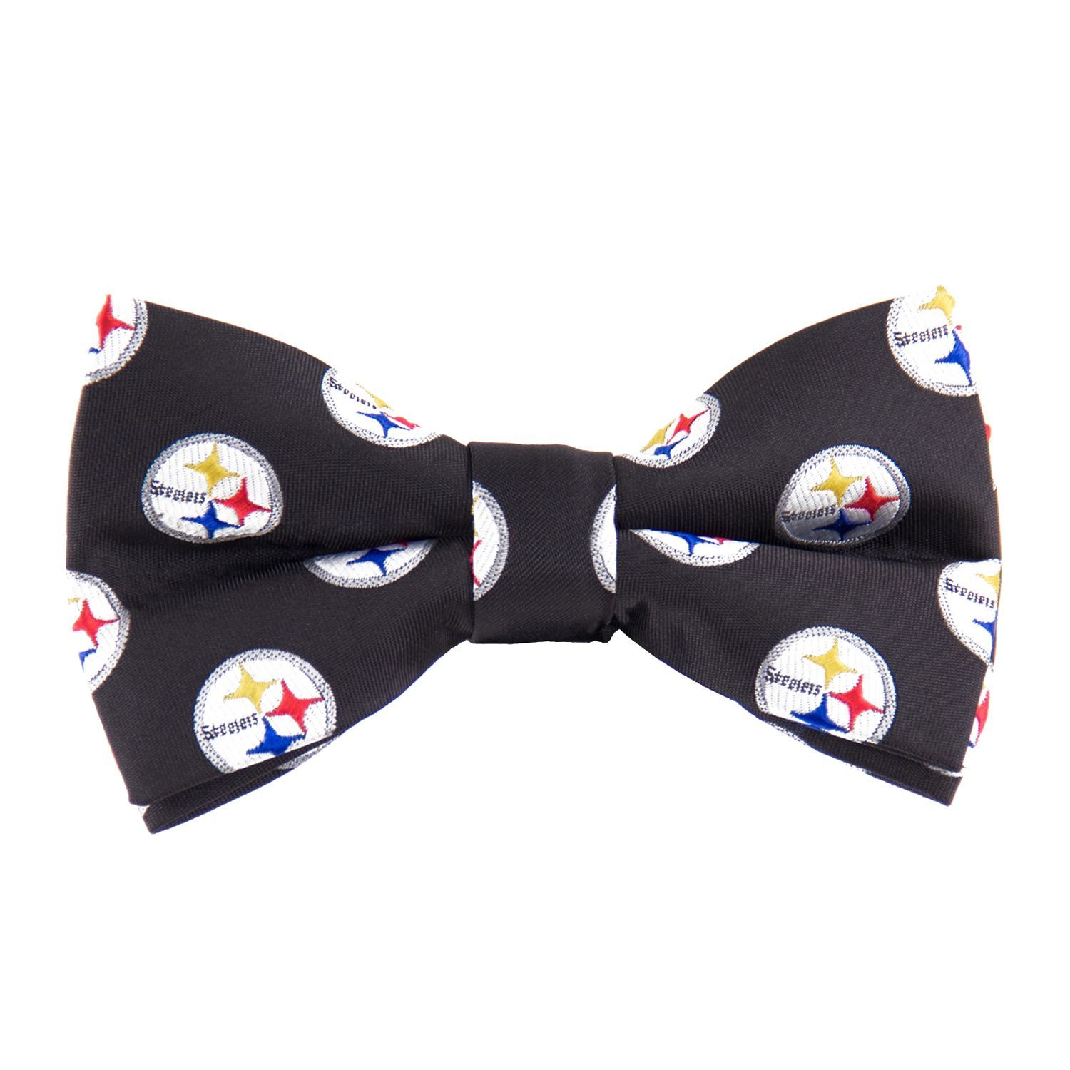 One Size Eagles Wings Mens Woven Polyester Repeat Bowtie Multicolor