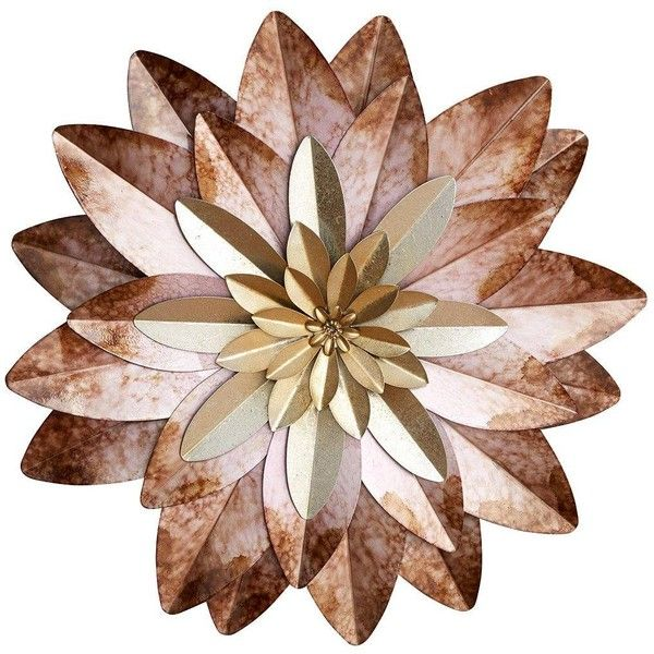 Flower Metal Wall Art ($27) ❤ liked on Polyvore featuring home