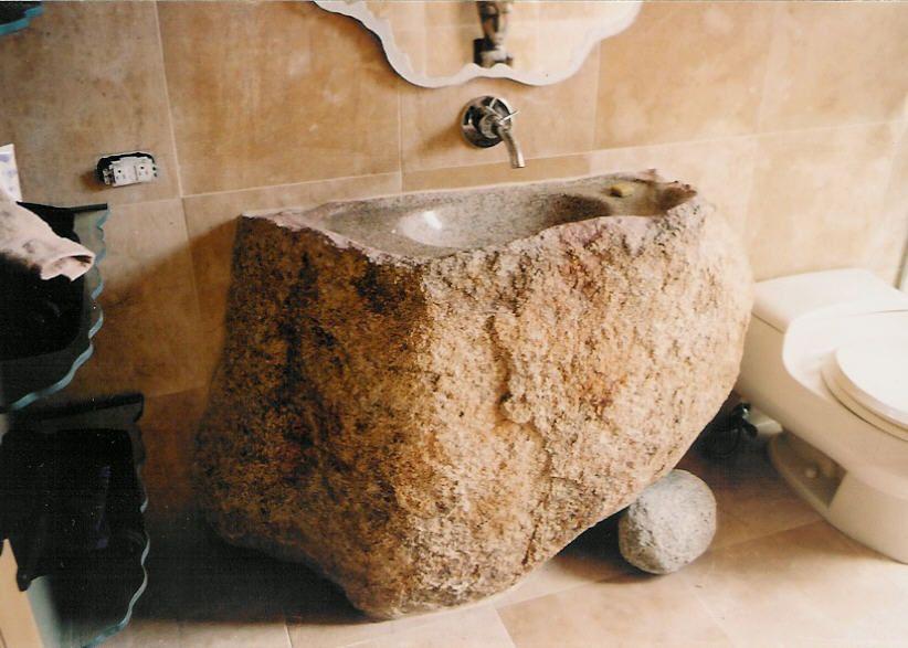 Stone Sink Home Bathroom Design Pinterest Steinbrunnen