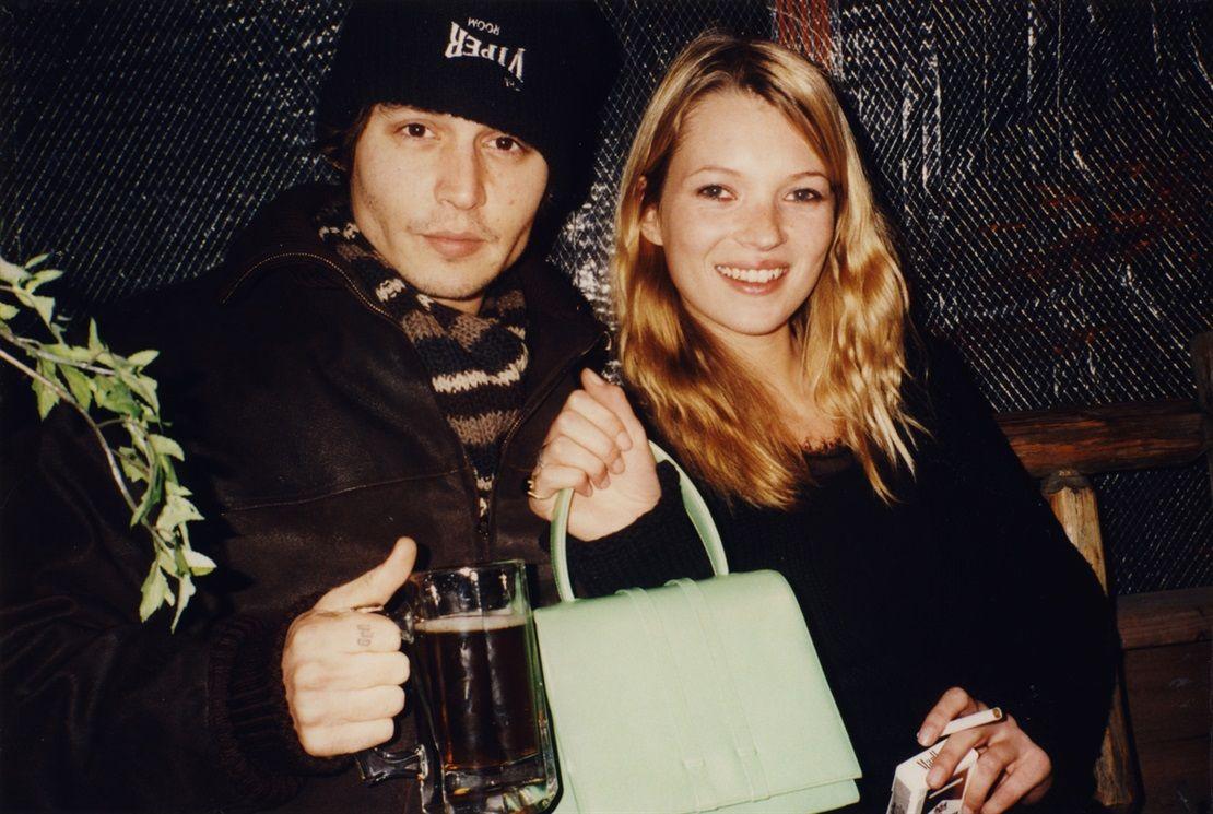 Johnny Depp, Kate Moss (Aspen, 1995)