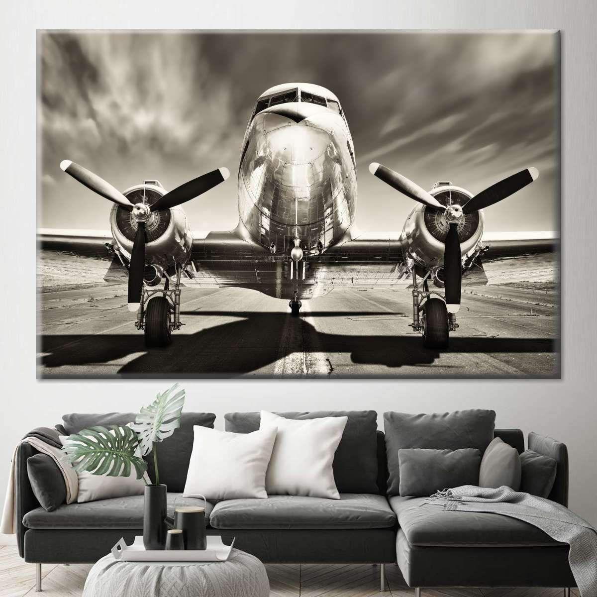 Retro Airplane Multi Panel Canvas Wall Art Airplane Wall Art Wall Canvas Canvas Wall Art