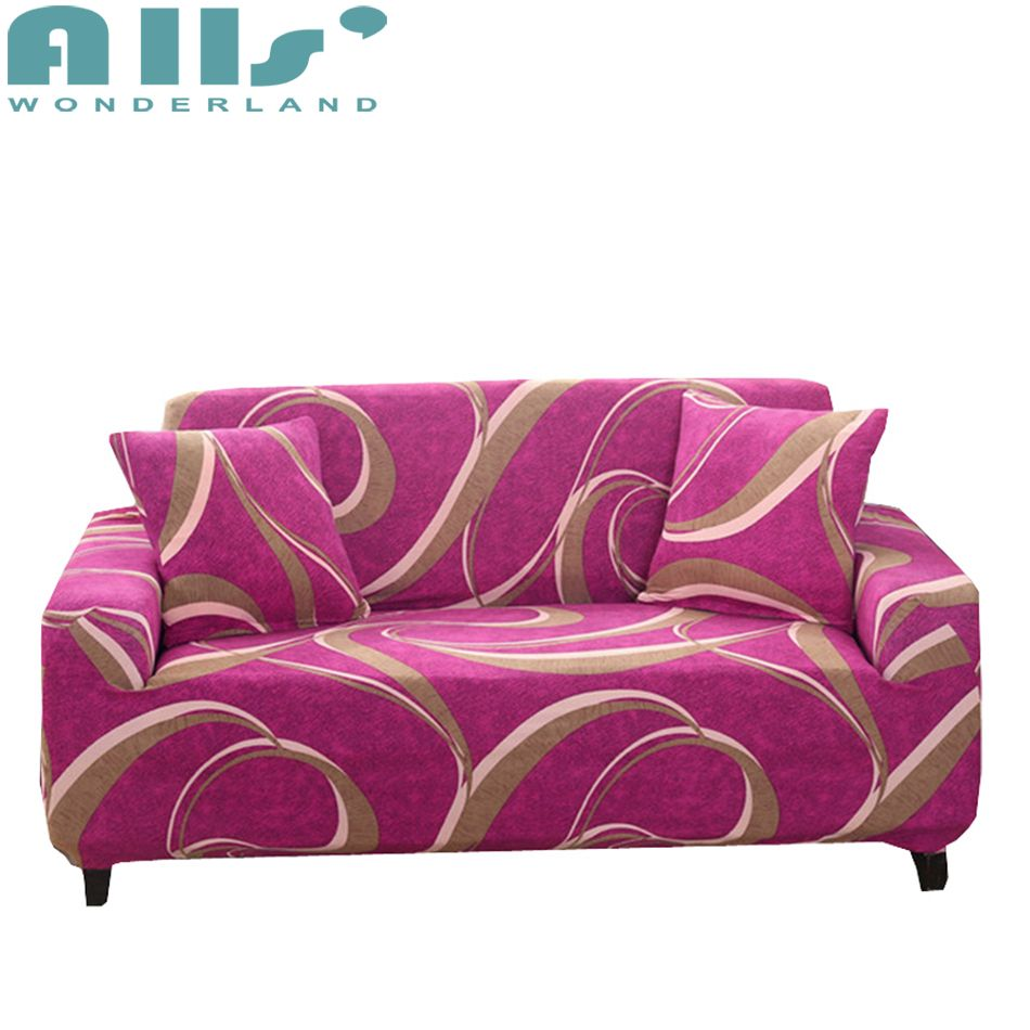 Polyester Sofa Covers For Living Room Pink Couch Slipcover 1pc Cushion Cover Modern Decoration Furniture Protector