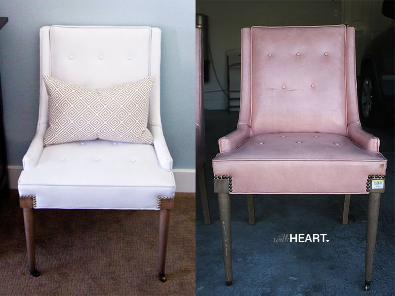 Amazing Vintage Chair Makeover Tutorial With Heart Vinyl