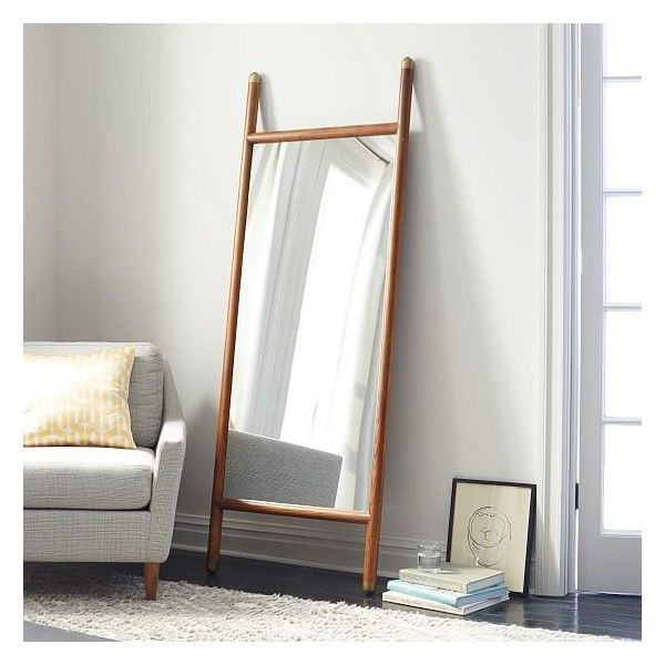 West Elm Mid Century Dowel Floor Mirror 449 Liked On Polyvore Featuring