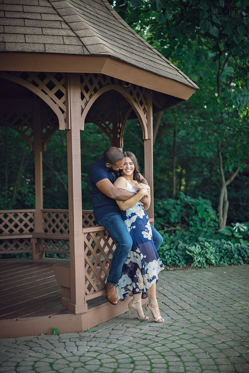 Real Couples  Evening Garden Engagement Session in Shelby Township Michigan Genevieve  Maurice  Catalyst Wedding Co  Shelby Township Michigan Garden Engagement embrace sm...
