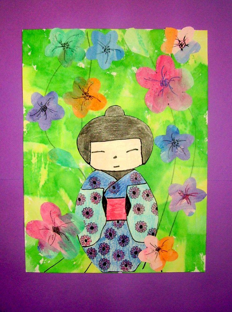 Kokeshi Doll Japanese Kids Art Japan Crafts Multi Cultural Art