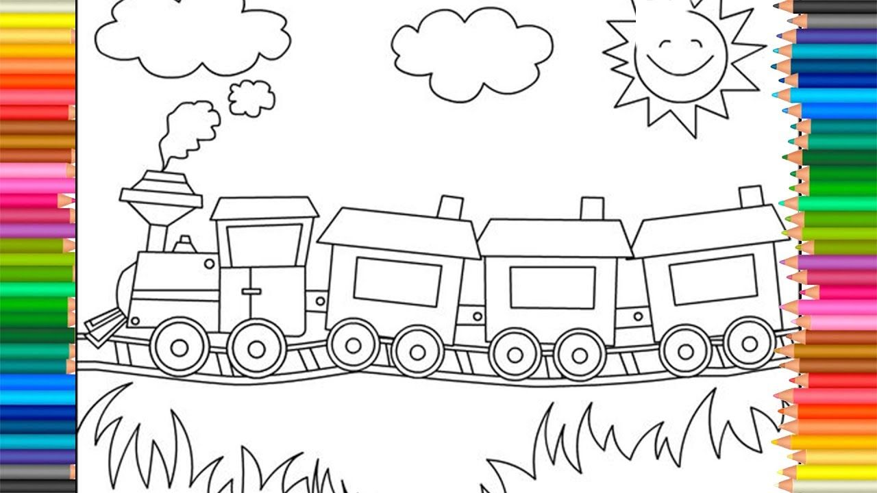 Train Bruder Colors For Kids To Learn Drawing And Coloring Pages Coloring For Kids Coloring Pages Drawings