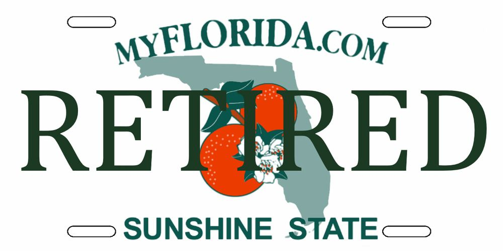 Details About Florida Personalized Retired License Plate In 2018