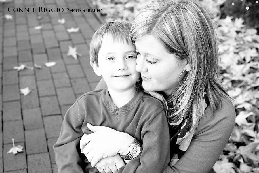 mother & son pose