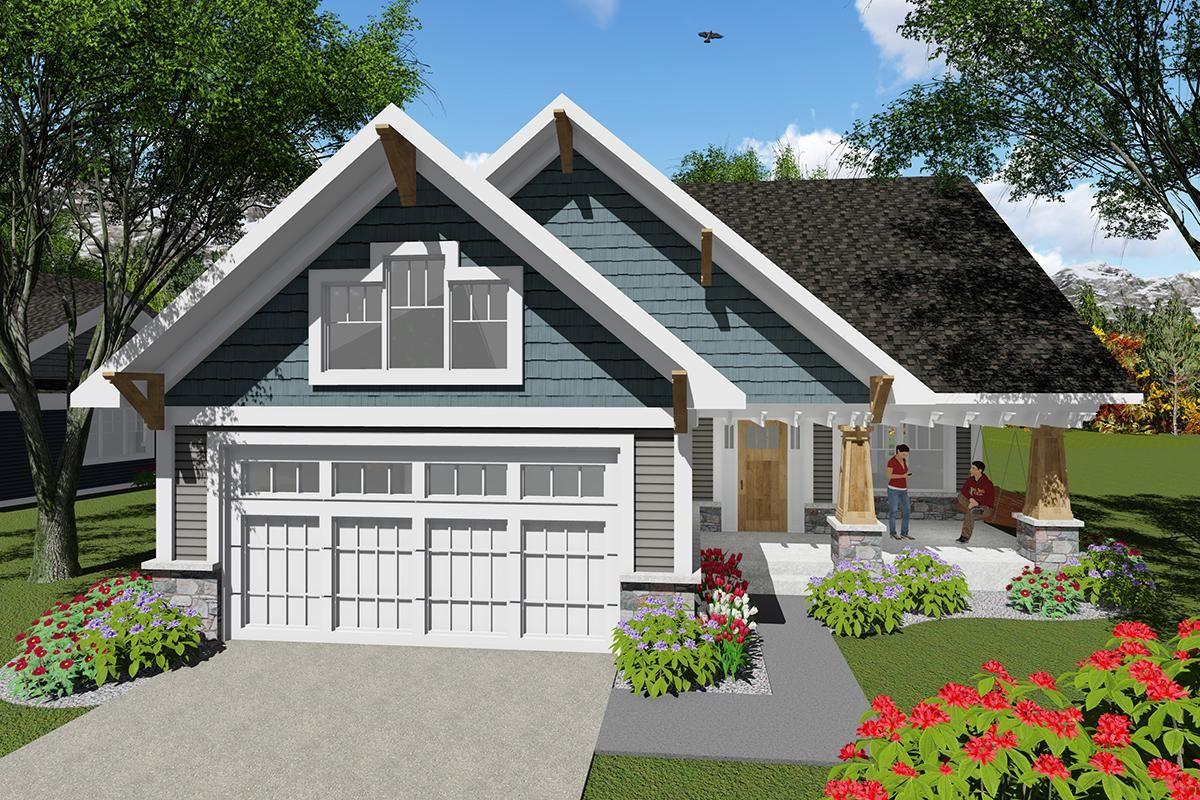 House Plan 102000046 Craftsman Plan 1,047 Square Feet