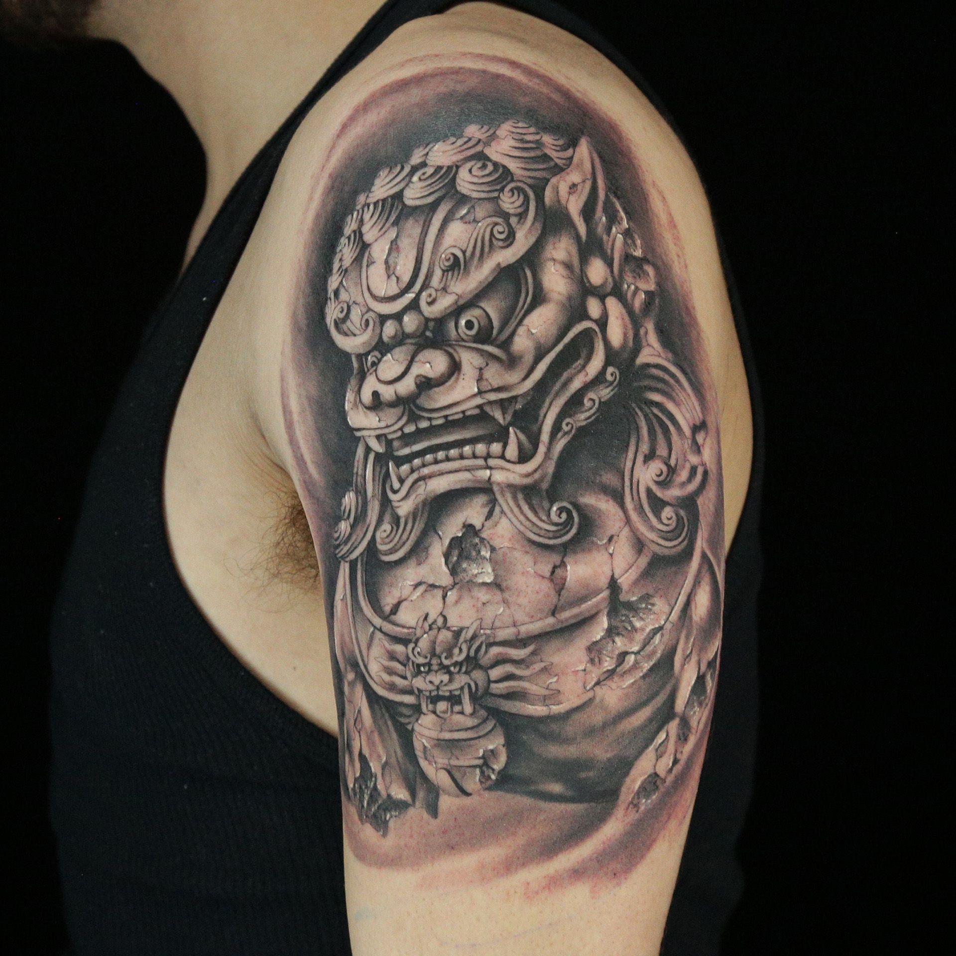 Stonework Tattoo by Daniel Silva Grey tattoo, Tattoos