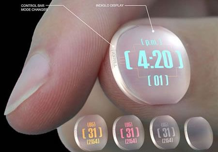 Wacky Wearable Gadget: World's Smallest Watch For Your Finger Nail --- from --- for…
