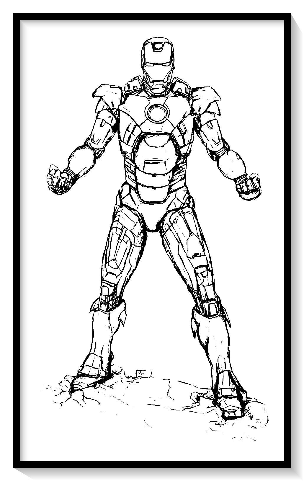 Dibujos De Iron Man Para Colorear En Linea Colorear E