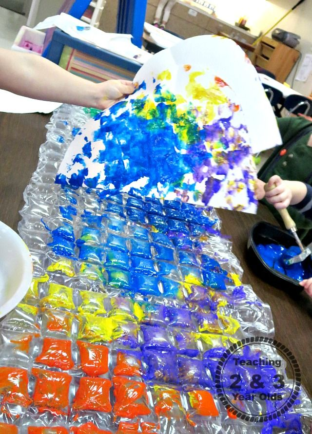 Rainbow Process Art With Toddlers Pre School And Tot School