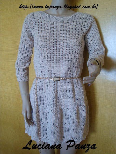 LU PANZA вязания крючком &: платье крючком