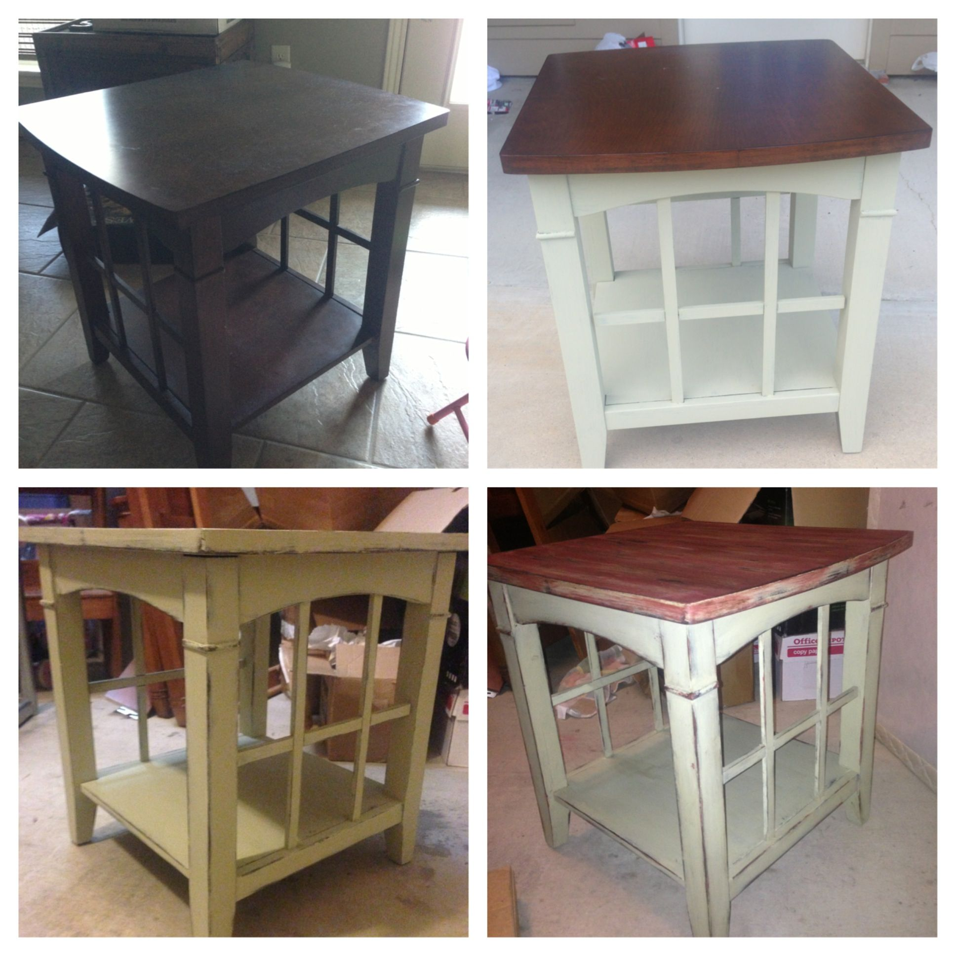 annie sloan chalk painted end table