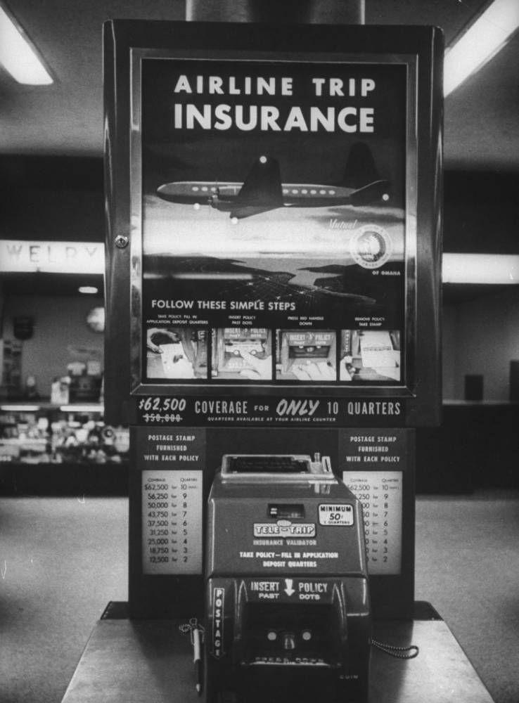 Vintage Life Insurance Vending Machine Vending Machine Travel