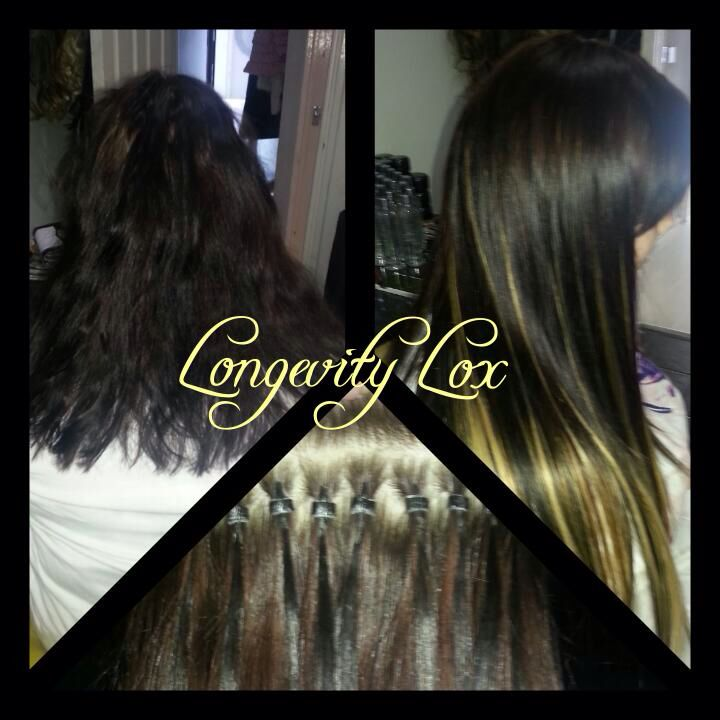 Micro Rings Hair Extensions With Black Brown And Blonde To Create