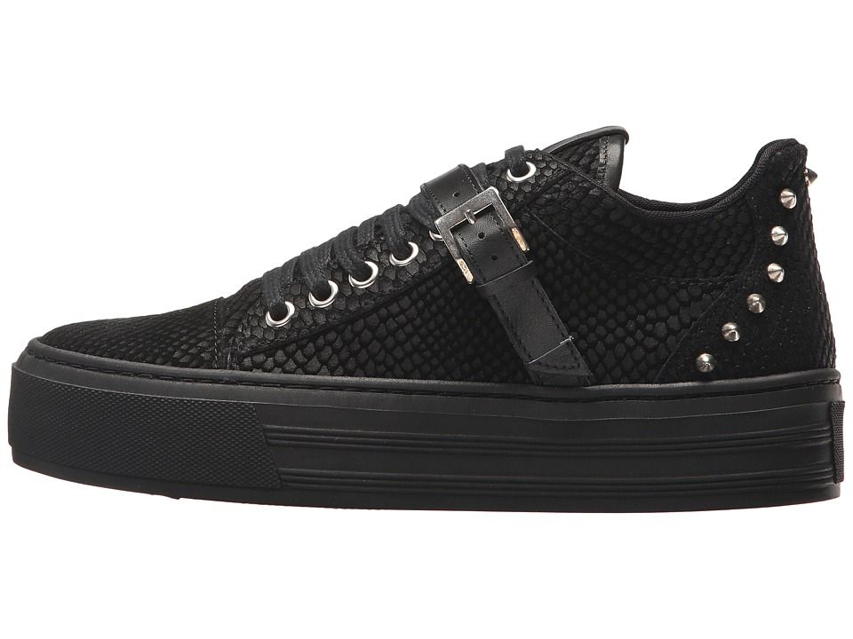 The Kooples Reptile-Effect Leather Platform Trainers t0JHwEhs