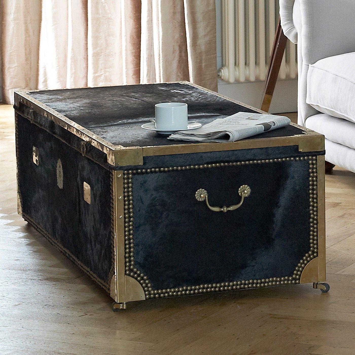 Moo Moo Cowhide Trunk/Coffee Table