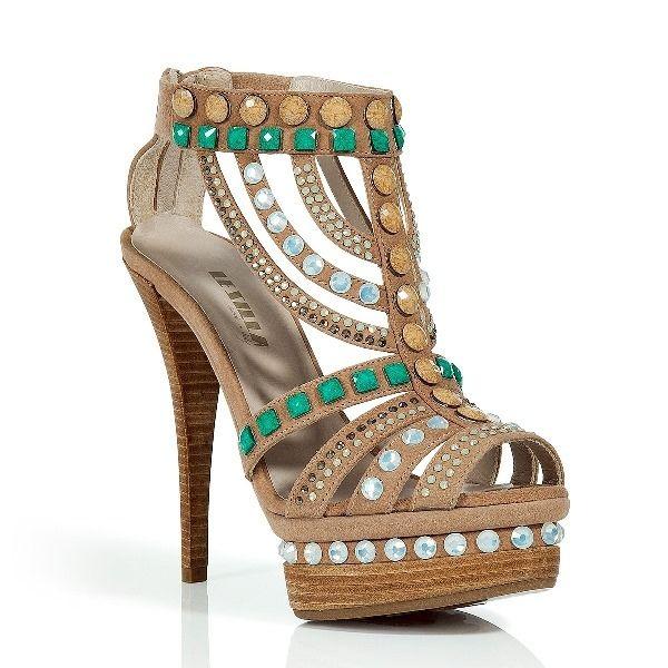 Crystal Embellished Platform Sandals from Picsity.com