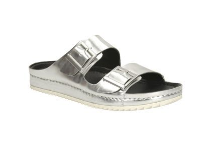 Womens Casual Sandals - Netrix Rose in Silver Metallic from Clarks shoes