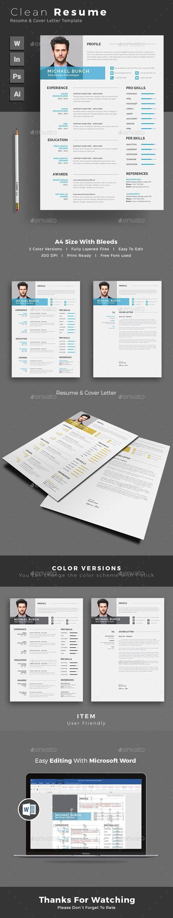Black u0026 White CV Resume Template