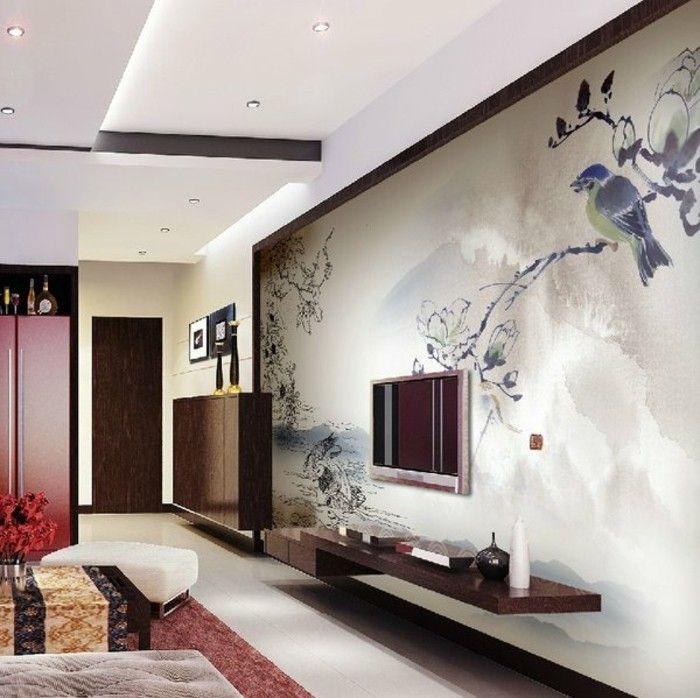 super kreative wand deko ideen fürs wohnzimmer tolles design ...