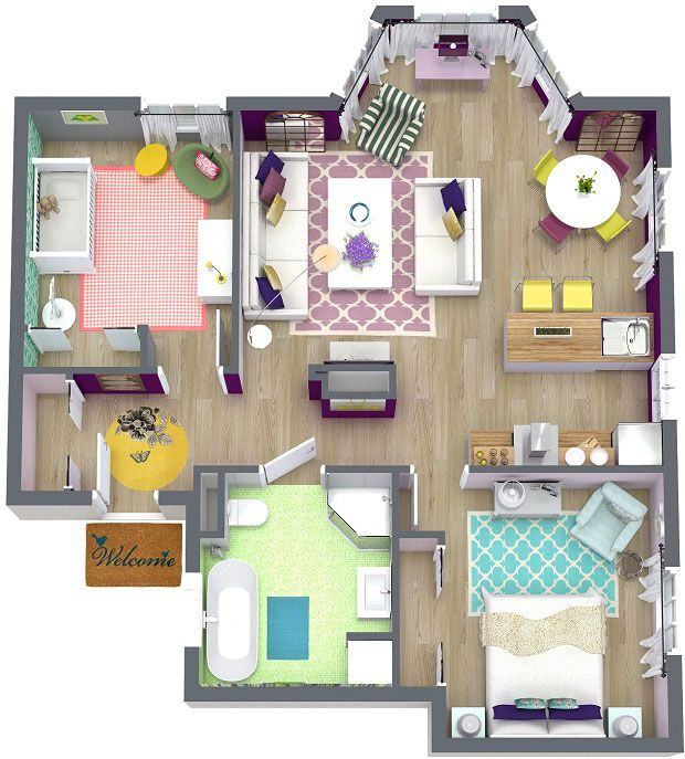roomsketcher professional 3d floor and furniture plans create professional interior design drawings online - Interior Design Drawings