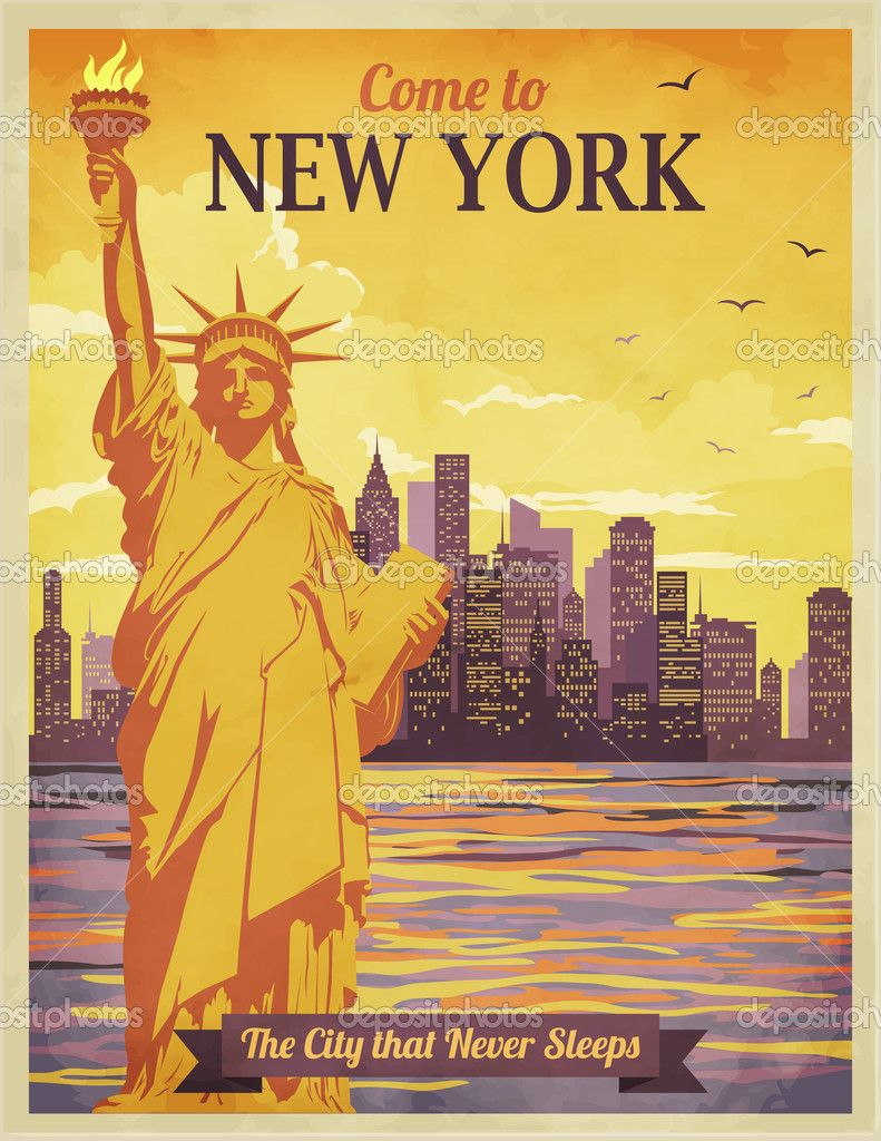 Poster design new york - Depositphotos_40557753 Travel To New York Poster Jpg 791