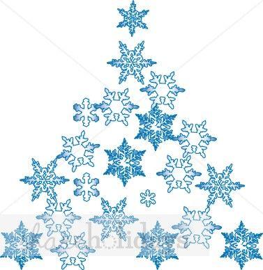 Snowflake Christmas Tree Christmas Tree Clipart Unique Christmas Trees Snowflakes