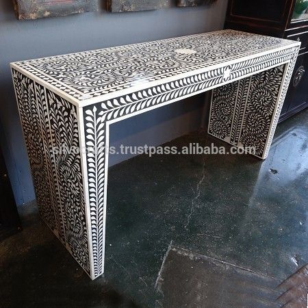 Lovely Indian U0026 Moroccan Style Camel Bone Inlay Console U0026 Laptop Table Furniture  (bone U0026 Mother